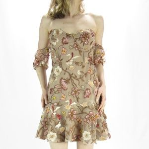 FOR LOVE & LEMONS Botanic Strapless Dress NWT S
